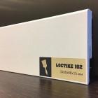 Плинтус белый Arbiton Loctike 102 МДФ под покраску 2400 х 80 х 15