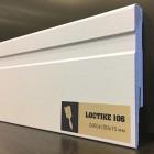 Плинтус белый Arbiton Loctike 106 МДФ под покраску 2400 х 100 х 15