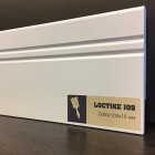 Плинтус белый Arbiton Loctike 109 МДФ под покраску 2400 х 100 х 15